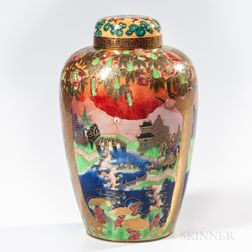Wedgwood Flame Fairyland Lustre Malfrey Pot and Cover