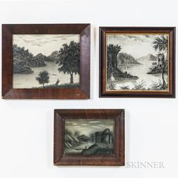 Six Sand Art Landscape Paintings