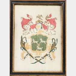 "Needlework Coat of Arms ""By the Name of Frye,"""