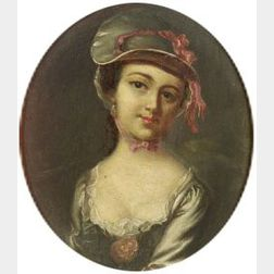 After John Singleton Copley (American, 1738-1815)  Portrait of Mary Clarke.