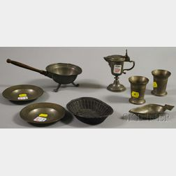 Eight Small Pewter Items