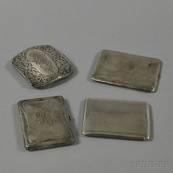 Four Sterling Silver Cigarette Cases