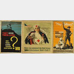 Three WWI Lithograph Posters