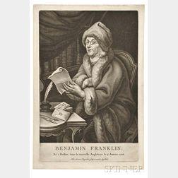 Rugendas, Johann Lorenz (1775-1826) Benjamin Franklin, né à Boston, dans la nouvelle Angleterre le 17 Janvier 1706.