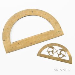 Two Brass Protractors