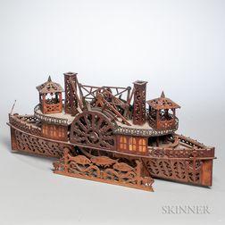 Tramp Art Steamboat