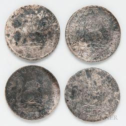 Four Shipwreck Spanish Milled Dollars