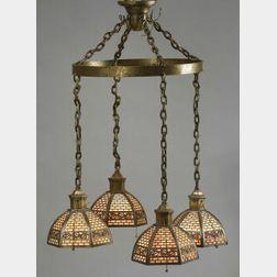 Bradley and Hubbard Five-Light Hanging Lamp