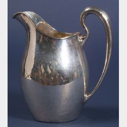 Whiting Manufacturing Co. Hammered Sterling Pitcher