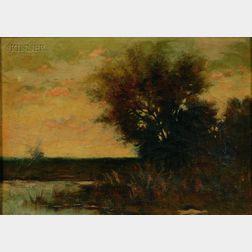 Arthur Hoeber (American, 1854-1915)      Twilight
