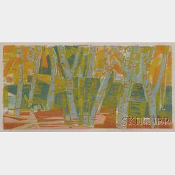 Werner Drewes (American, 1899-1985)      Autumn Forest
