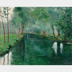 John Leslie Breck (American, 1860-1899)      The River Epte, Giverny