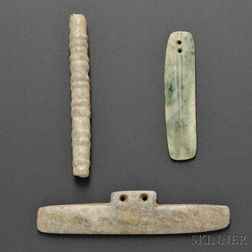 Three Pre-Columbian Jade Items
