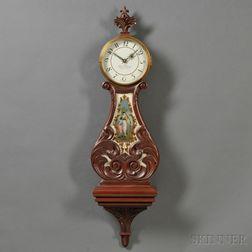 Mahogany Lyre Clock by Elmer Stennes