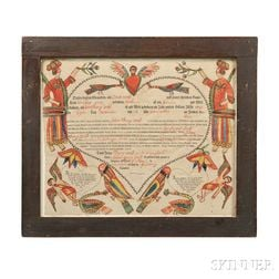 Birth and Baptismal Certificate Fraktur