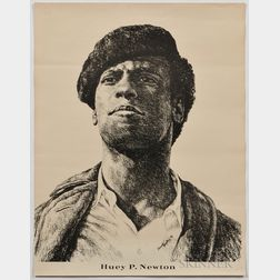 Huey P. Newton Printed Black Panther Party Poster.
