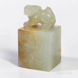 Small Nephrite Jade Seal