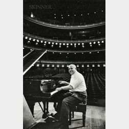 Alfred Eisenstaedt (American, 1898-1995)      Two Portraits at Carnegie Hall: At the Piano