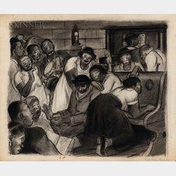 Julius Tanzer (American, 1905-1963)      Harlem Revival