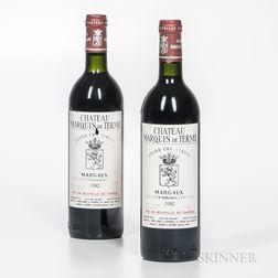 Chateau Marquis de Terme 1982, 2 bottles
