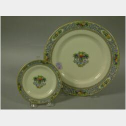Set of Nine Lenox The Autumn Pattern Porcelain Dinner Plates and Twelve Side Plates.