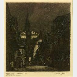 Morris Henry Hobbs (American, b. 1892)  A Light Shining in a Dark Place/