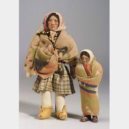 Two Northwest Skookum Dolls
