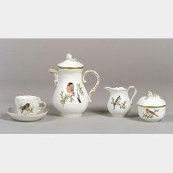 Nine Piece Meissen Porcelain Tea Set