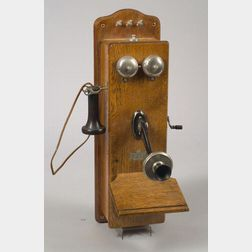 Sterling Electric Co. Magneto Wall Telephone