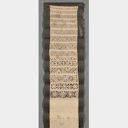 Dresden-type and Drawn-work White Linen Sampler