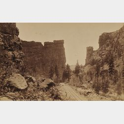 William Henry Jackson (American, 1843-1942) Lot of Eight Views of the American West: Castle Gate Price Canon, Utah, Phantom Curve D....