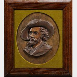 Bronze Portrait Plaque of a Man