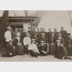 Gelatin Silver Print of the Russian Imperial Family Aboard the Standart