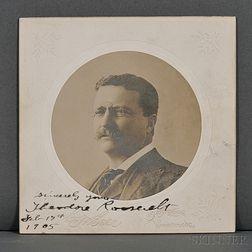 Roosevelt, Theodore (1858-1919) Signed Photograph, 17 February 1905.
