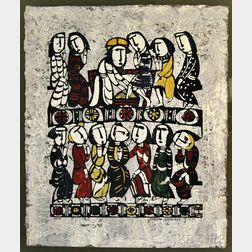 Sadao Watanabe (Japanese, 1913-1996)      Christ Washing Feet of Disciples