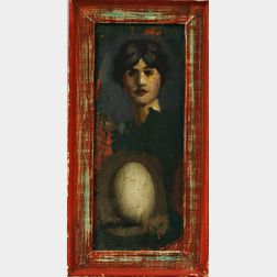 Attributed to Philip Hale (American, 1865-1931)      Portrait with Egg