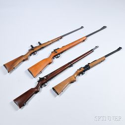 Four Bolt-action .22 Caliber Rifles