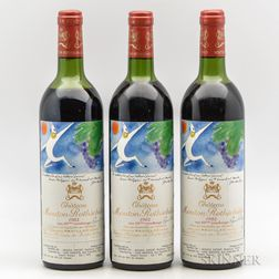 Chateau Mouton Rothschild 1982, 3 bottles