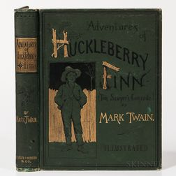 Twain, Mark (1835-1910) Adventures of Huckleberry Finn (Tom Sawyer's Comrade).