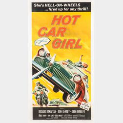 """Hot Car Girl"" Three Sheet Movie Poster"