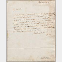 Lafayette, Marquis de (1757-1834) Autograph Letter Signed, Paris, May 14, 1824