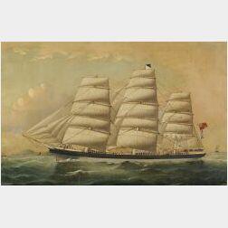William Howard Yorke (British, 1847-1921)  The British Ship Patterdale.