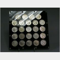 Twenty-four Piece Collection of Peace-type Silver Dollars 1921-1935