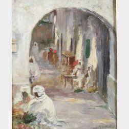 Caleb Arnold Slade (American, 1882-1961)  Middle Eastern Street Scene