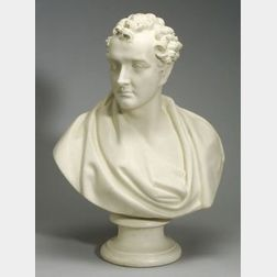 Life Size Copeland Parian Bust of Lord Byron