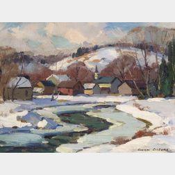 Gianni Cilfone (American, b. 1908)    Winter Morning, Cambridge, Vermont