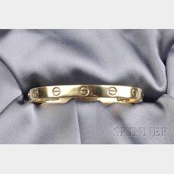 "18kt Gold ""Love"" Bracelet, Aldo Cipullo, Cartier"