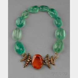 Fluorite and Agate Necklace, Iradj Moini