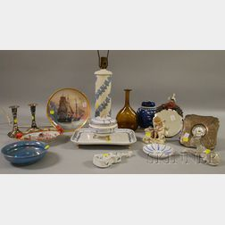 Group of Miscellaneous Decorative Ceramic and Silver Items