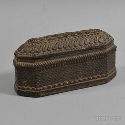 Nepali Carved Wood Box